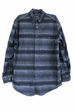 WOOLRICH Heather Chamois Flannel Shirt L TALL Camp 100% Cotton Various Colors