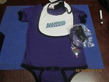 MLB-ARIZONA DIAMONDBACKS-3PC INFANT SET-CREEPER/BODYSUIT+BIB+BOOTIES
