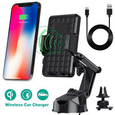 Qi Wireless Car Charger Charging Pad Holder Mount For iPhone X/8 Samsung S8 S7