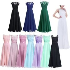 Women's Long Formal Evening Party Dresses Bridesmaid Dress Cocktail Prom Gown