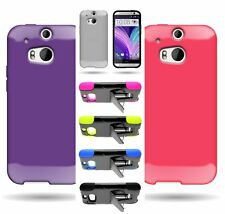 Colorful Hard Hybrid Stand Heavy Duty Tough Case / Soft TPU Cover for HTC One M8