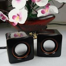 Black Small USB Mini Speaker Audio Music Player for iPhone iPad MP3 Laptop PC TH