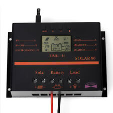 60A 80A LCD Display 12-24V PWM Auto Solar Panel Charge Controller Regulator LK