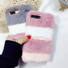 Luxury Soft Faux Furry Rabbit Fur Shockproof Case Cover For iPhone 6s 7 8 Plus