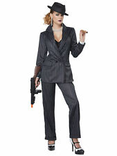 Ms Mobster Mafia 1920s Gangster Mob Boss Chicago Criminal Womens Costume