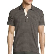 Billy Reid Men's Short Sleeve Pensacola Striped Pocket Polo $95 msrp NWT