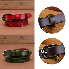 Adjustable Belt Thin Skinny Waistband Sweetness Women Candy Color Leather Belts