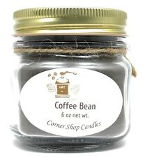 Handmade Candle - Coffee Bean Scented Candle. Soy Blend Mason Jar Candle