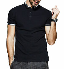 KUEGOU Men Polo Shirts Short Sleeve Cotton Patchwork Floral Casual Tops T-shirts