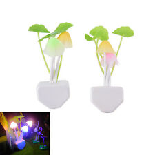 Sensor Night Light Mushroom LED Lamp EU/US Plug Romantic Colorful Home Decor FT