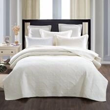 French Country Style Bed Quilt EVREUX New Coverlet incl 2 pillowcases