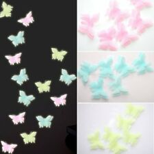 6Pcs 3D Glow In The Dark Butterfly Wall Home Decals Removable Wedding Stickers
