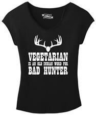 Ladies Vegetarian An Old Indian Word For Bad Hunter Funny Hunting Shirt Drapey