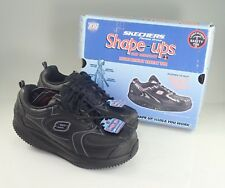 Skechers Shape-Ups Shoes for Work Safety Toe Slip Resistant Sole Womens 76462