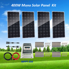 400W Complete Kit:4 x 100W Mono Solar Panel 24V RV Boat + MPPT Charge Controller