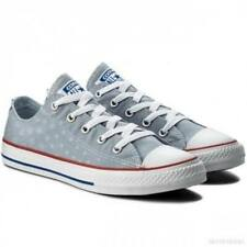 Converse Chuck Taylor All Star OX Kids Girls Canvas Shoes UK 1 - 5 Blue sneakers