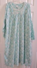 ARIA Nightgown Fleece 1X 2X 3X Blue White Floral Polyester L/S NWT FREE SHIPPING