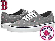 NEW! VANS x MLB Authentic Men's Boston Red Sox / Gray Lace-Up Shoes SALE!
