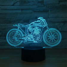 Autocycle 3D Optical Night Light 7 Color Change Table Desk Decor Sleeping Lamp