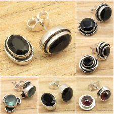 Stud Earrings ! Many Stones, Many Styles ! 925 Silver Plated HANDMADE Jewelry