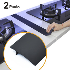 2 pcs Silicone Kitchen Stove Counter Gap Cover Oven Guard Spill Seal Slit Filler