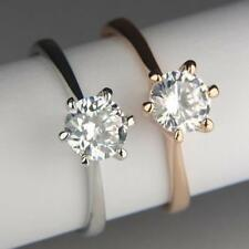 9ct 9k White / Rose Gold Filled Ring made with Swarovski Crystal Brithday R120