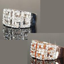 9ct 9k White / Rose Gold Filled Ring made with Swarovski Crystal Brithday R116
