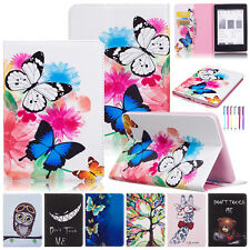 """Pattern Leather Wallet Stand Case Smart Cover For Amazon All-New Kindle 6"""" 2016"""
