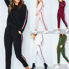 2Pcs Women Ladies Tracksuit Hoodies Sweatshirt Pants Sets Sport Wear Casual Suit