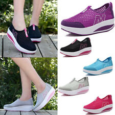 New Womens Casual Breathable Sneakers Slip On Loafers Sport Mesh Shoes Trainers