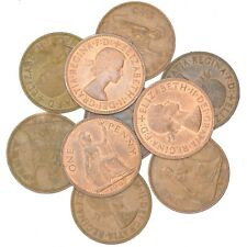 LOT 10 UK ENGLAND GREAT BRITAIN COINS: ½ PENNY - ½ CROWN BRITISH COINS 1937-2018