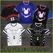 Game Overwatch OW D.Va Genji Reaper Cosplay Tee Unisex Casual T-shirt Tee Top