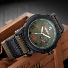 Practical Men Male Luminous Outdoor Military Nylon Strap Quartz Wrist Watch VQ