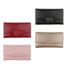 Women's PU Leather Clutch Wallet Purse Evening Cross Body Handbag Chain Bag