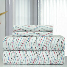 Pointehaven Heavy Weight Metro Printed Flannel Sheet Set