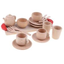 Wooden Tea Coffee Cup Set Pretend Play House Kitchen Cooking Developmental Toy