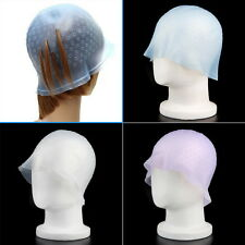 Professional Reusable Hair Colouring Highlight Dye Cap Hook Frosting Tipping FV