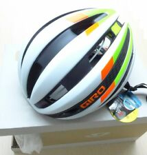 GIRO SYNTHE MIPS HELMET - MATTE WHITE / LIME / FLAME - BRAND NEW