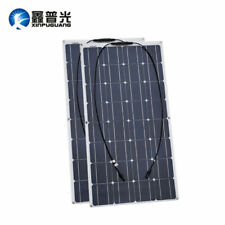2x 100w 200watt Flexible Solar Panel Module for 12v Battery Yacht Boat RV Charge