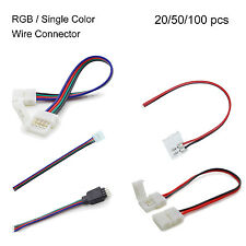 2pin/4pin Power Connector Adaptor For Led Strip Wire 5050 RGB LED Strip Wire