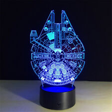 Star Wars Millennium Falcon 3D Night Light 7 Colors Change LED Desk Lamp Bedroom