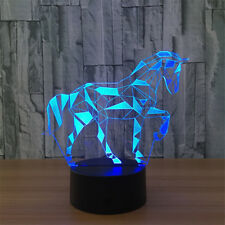 Horse USB Cartoon 3D Table Atmosphere Lamp LED Night light for Kids Bedroom