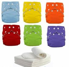 Diapers+ Inserts Adjustable Reusable Washable Baby Cloth Diaper Nappies 7 Colors