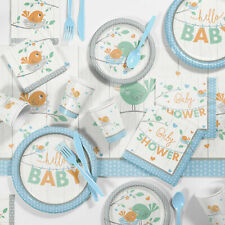 Creative Converting Hello Baby Paper/Plastic Party Supplies Kit