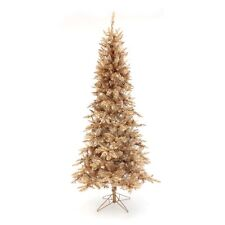 Perfect Holiday Pre-Lit Gold Champagne Christmas Tree 6.5ft 7.5ft warm white