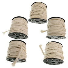 5Sizes Braided Cotton Rope Twisted Cord Wall Hanging Macrame Knitting Crafts
