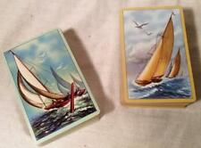 VINTAGE US PLAYING CARD CO DOUBLE BRIDGE DECK PLAYING CARDS RACING SAILBOATS
