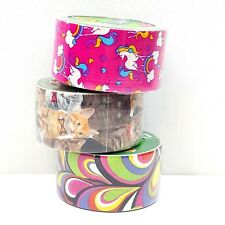 Duck Brand Duct Tape Rolls 1.88IN X 10 YD 48mm x9,1m Unicorns Cats Abstract (X1)