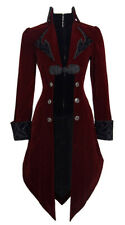 Jacket long red and black aristocrat velvet with embroidery e Devil Fashio