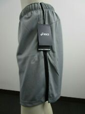 """Mens S-L-XL Asics 9"""" Knit Active Running Workout Gym Basketball Shorts Light Gry"""